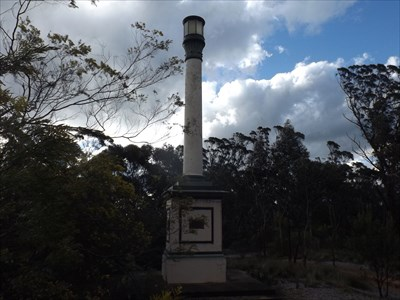 The Mitchells Ridge 'Trig' memorial column. 1728, Sunday, 3 October, 2016