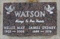 Image for Nellie and James Watson - Oliver Cemetery - Oliver, British Columbia Canada