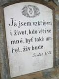 Image for Citat z bible - sv. Jan 11.25. - Syrovice, Czech Republic