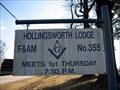 Image for Hollingsworth Lodge F&AM # 355