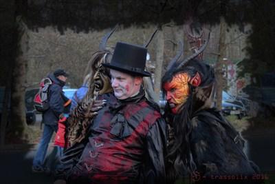 Teufel auf dem Hexentanzplatz zur Walpurgisnacht