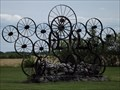 "Image for Wagon Wheel ""Sculpture"" - Siegs Corner MB"