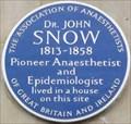 Image for Dr John Snow - Frith Street, London, UK