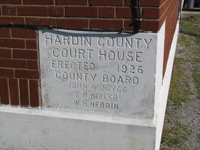 1926 - Hardin County Courthouse - Elizabethtown, Illinois - Dated