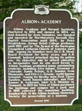 Image for Albion Academy Historical Marker
