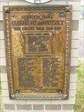 Image for CLAREMONT TOWN GATES HONOUR ROLL - Claremont