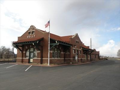 Atchison topeka and santa fe depot holly co train for Home depot wichita ks
