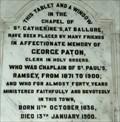 Image for George Paton - St. Paul's Church - Ramsey, Isle of Man