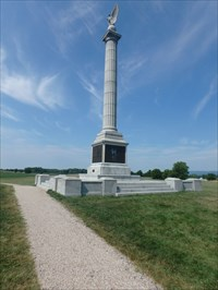One of the many markers and monuments we came upon while visiting the battlefield today.