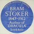 Image for Bram Stoker - St Leonard's Terrace, London, UK