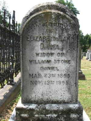 Elizabeth Lane Daniel - born: 3/23/1865, died: 11/19/1968
