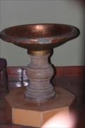 Image for Baptismal Font -- La Iglesia de Nuestra Senora Reina de Los Angeles, Los Angeles CA