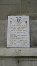 Image for The fallen of the 6eme Arrodisement, Paris, France