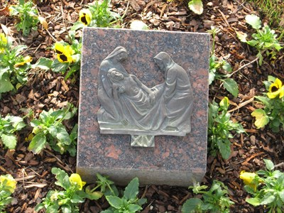 View of the fourteenth Station of the Cross.