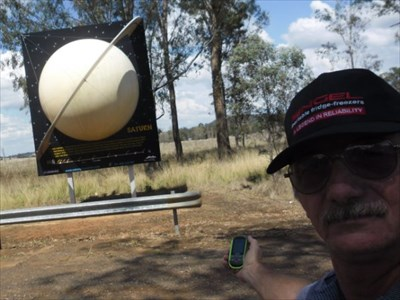 WanderingAus Visited World's Largest Virtual Solar System Drive - Saturn.