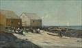 Image for Unloading Fishing Boats, 1875 by William Edward Norton - Monhegan Island, Maine, USA