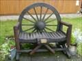 Image for Wagon Wheel Memorial Bench - Talke, Stoke-on-Trent, Staffordshire, UK.
