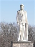 Image for JFK Statue - Oak Hill Cemetery, Taylorville, Illinois.