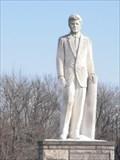 Image for JFK Statue - Oak Hill Cemetery, Taylorville, Illinois.