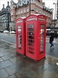 Image for Two Red Telephone Box - Victoria Embankment, London, UK