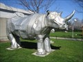 Image for Figurative Public Sculpture - Metal Rhino of London