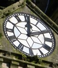 Image for Memorial Clock - St Davids Church, Neath, Wales.
