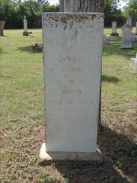 "Coleman Jenkins, referenced on the historical marker.  Note regional ""Jinkins"" spelling, seen on many of the other Jenkins headstones here."