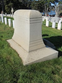William R Shafter, Medal of Honor, Back, San Francisco National Cemetery