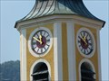 Image for Uhren an der katholischen Pfarrkirche St. Martin - Unterwössen, Lk Traunstein, Bayern, D