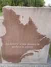 La deuxième partie avec le territoire du Québec bien illustré dans la pierre.  l