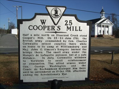 Cooper 39 s mill virginia historical markers on for Coopers mill
