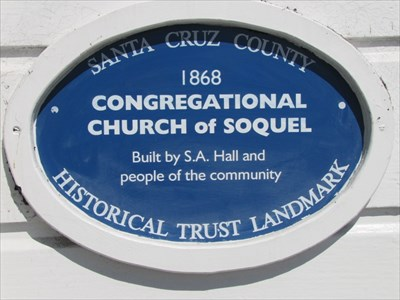 Congregational Church of Soquel Blue Plaque, Soquel, CA