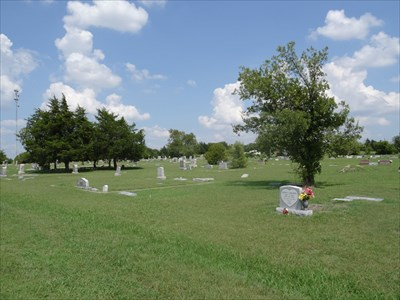Shot across the cemetery.