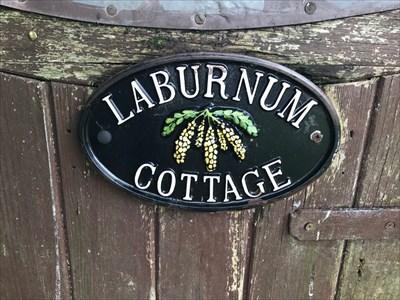 LaBurnum Cottage Sign, Burghclere, Newbury, Hampshire, England