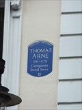 Image for Thomas Arne - 31 King Street, London, UK