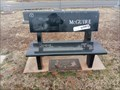 Image for McGuire Bench - Pilgrims Rest Cemetery, Stella, Oklahoma