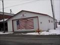 Image for American Flag, on Fire Department Garage Door  -   Chandlerville, Illinois
