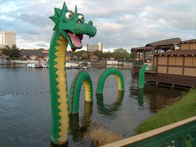 LEGO Nessie - Sighted in, Downtown Disney,