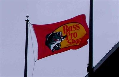 BASS PRO SHOPS FLAG BANNER CLOTH SIGN 3/' X 5/'