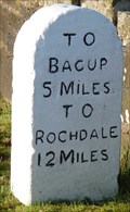 Image for Milestone - Bacup Road near Burnley, Lancashire, UK.