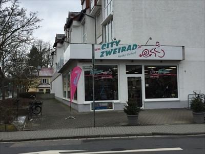 the shop entrance