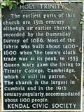 Image for Holy Trinity Church, Highgate, Kendal, Cumbria, UK