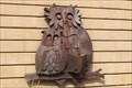 Image for Two Owls Reading a Book - Sign of Peoria Public Library - Peoria, IL