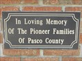 Image for Pioneer Families of Pasco County - Dade City, FL