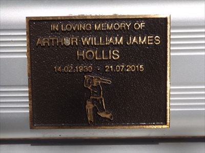 The lower plaque for a great cricketer - Arthur Hollis.