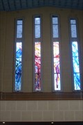 Image for The West Window, Waiapu Anglican Cathedral, Napier, Hawke's Bay, New Zealand.
