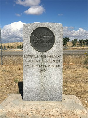 Oregon Trail Memorial for Bonneville Point by Sons & Daughters of Idaho Pioneers.