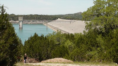 Canyon lake Dam from Overlook Park