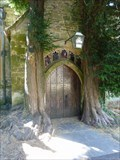 Image for Yew-bound doorway, St Edward's, Stow on the Wold, Gloucestershire, England