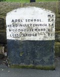Image for Milestone - Corner of Church Hill and Leeds Road, Bramhope, Yorkshire, UK.